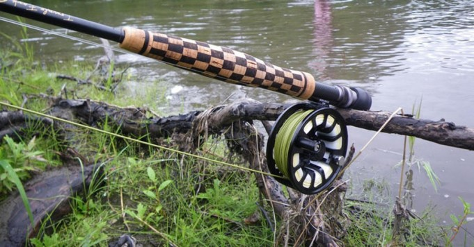 Build A Checkerboard Cork Handle On Fishing Rods