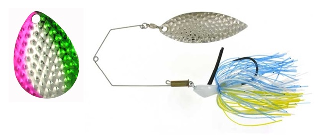 Dimpled Blade Spinnerbait