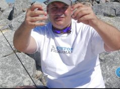 Saltwater Fishing With Bait On A 3 Way Rig